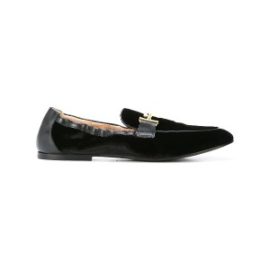 Tod's loafers with logo buckle - ブラック