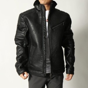 【SALE 50%OFF】ゲス GUESS ECO-SHEARLING JACKET (JET BLACK)