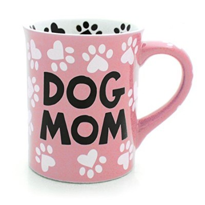 Our Name Is Mud Dog Mom Stoneware Mug、16オンス ピンク