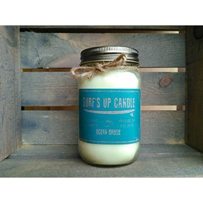 Ocean Breeze 16ozすべて自然Soy Candle by Surf 's Up Candle