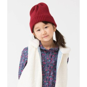 【3can4on(Kids)(サンカンシオン(キッズ))】 カラーニットワッチ OUTLET > 帽子 > ニット帽 レッド