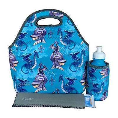 (DRAGONS) - KOVERZ - 3 Piece Lunch Tote Set w/Freezer Pop Sleeve, Lunch Bag Set - CHOOSE YOUR STYLE...
