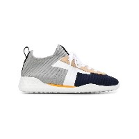 Tod's ribbed lace-up sneakers - グレー