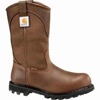 "カーハート Carhartt ブーツ Wellington 11"" Waterproof Safety Toe Work Boots Bison Brown Oil Tanned"