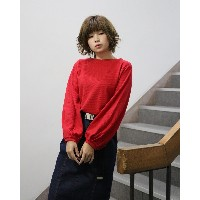 she mo shelly カットソー○98020129 レッド トップス