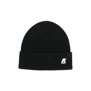 K Way Kids ribbed knit hat - ブラック