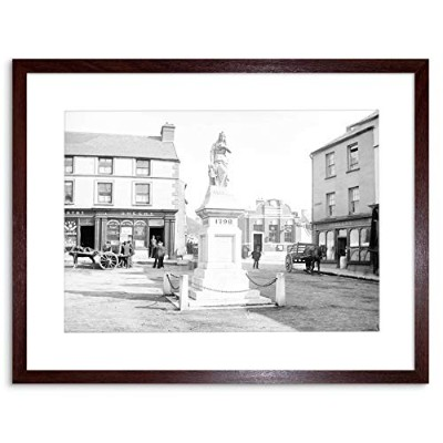 Photo Statue BW Skibbereen Town Ireland Picture Framed Wall Art Print 白黒写真