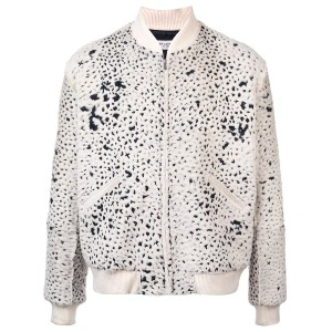 Saint Laurent patterned bomber jacket - 9411 -Ecru/Noir