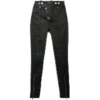 Alexander Wang skinny leather denim trousers - ブラック