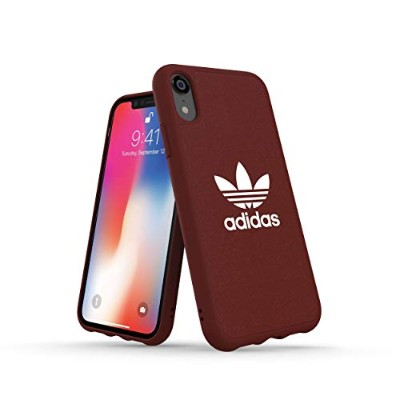 Adidas 32838 OR ADICOLOR Moulded Case CANVAS FW18 maroon 〔iPhone XR用〕