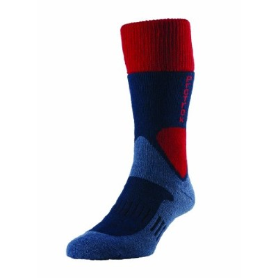 H.J. Hall Quality ProTrek Rambler Walking Hiking Trekking Wool Rich Socks (XLARGE (11.5-13), Navy)...