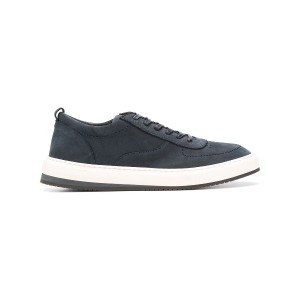 Corneliani leather lace-up sneakers - ブルー