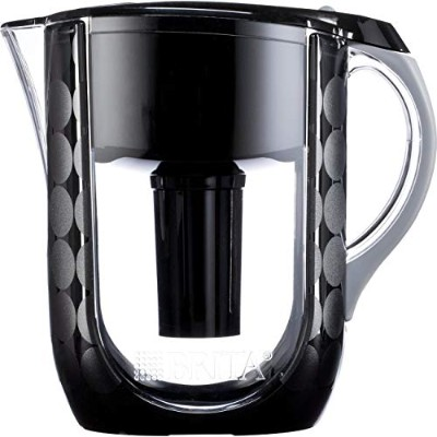 Brita 10 Cup Grand BPA Free Water Pitcher with 1 Filter, Bubbles Black by Brita