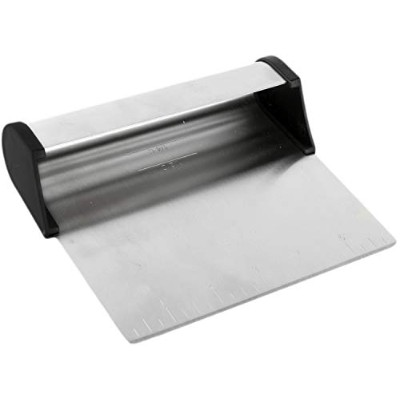 Stainless Steel Pastry Bench Scraper with Scoop - Cake Lifter & Dough Cutter by ProBakeSupply