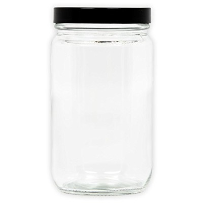 XX-Large Clear Glass Storage Jar with Air-Tight Lid by The Other Side Gifts