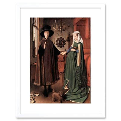 Jan Van Eyck Arnolfini Wedding Old Master Framed Wall Art Print オールドマスター壁