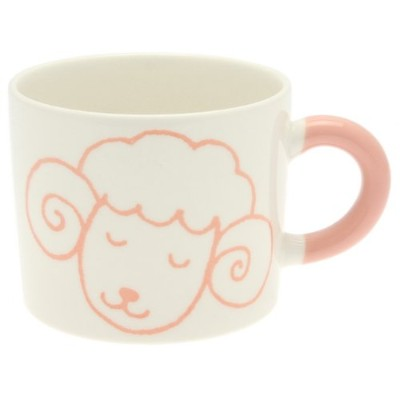 Kotobuki Zodiac Series Crayon Mug, Year of The Sheep, Pink