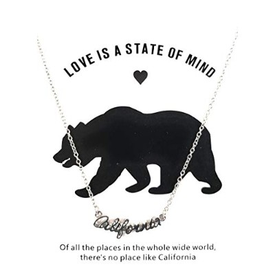 J&W COLLECTION California Love is A State of Mind ネックレスペンダント シルバー