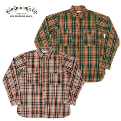 WAREHOUSE【ウエアハウス】ネルシャツ Lot 3022 FLANNEL SHIRTS WITH CHINSTRAP NON WASH