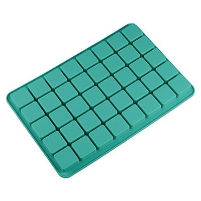 V-fox 40 Cavities Square Caramel Candy Silicone Moulds for Chocolate Truffles, Ganache, Jelly,...