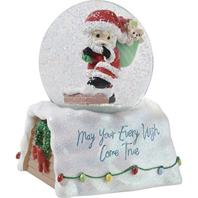 Precious Moments May Your Every Wish Come TrueサンタSnow Globe