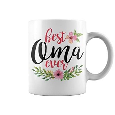 Omaマグカップギフト–Best Oma Everマグ(ホワイト、11オンス–Gifts for Oma–by Mikeアパレル