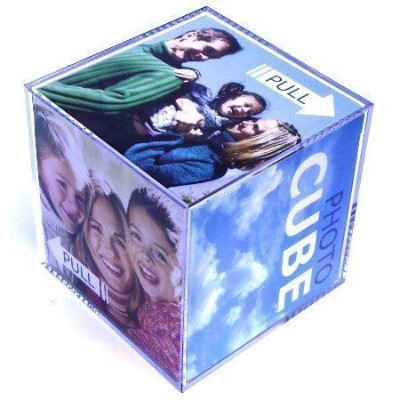 Photo Cube Picture Frame (9cm x 9cm) - Acrylic by Photo Cube Picture Frame