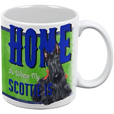 Home Is Where My Scottie Scottish Terrier IsホワイトAll Over Coffee Mug