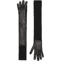 Burberry Cashmere and Lambskin Longline Gloves - ブラック