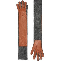 Burberry Cashmere and Lambskin Longline Gloves - ブラウン