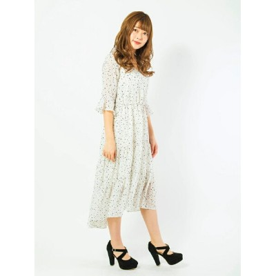 CECIL McBEE 星柄ティアードワンピース セシルマクビー ワンピース【送料無料】