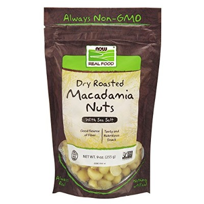 海外直送品 Now Foods Macadamia Nuts, 9 oz