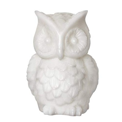 Owl Candle,Real Wax Led Flameless Candle with Timer,White