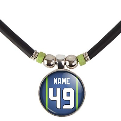 Seattle Football JerseyネックレスPersonalized with your name and number