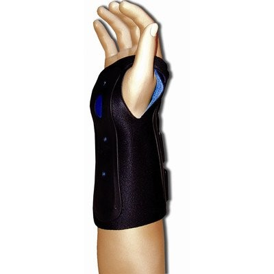 Ortho Armor Wrist Immobilizer in Black / Blue Wrist / Size: Left / Small by Bell-Horn