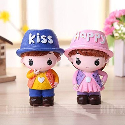 Cartoon Couple Desktop Decorations 2PCS