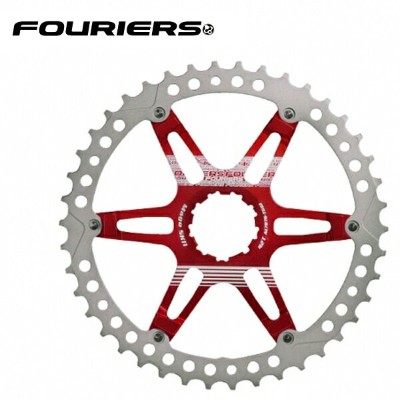 FOURIERS MTB スプロケット40T レッド (DX008-SK-403) 10600043