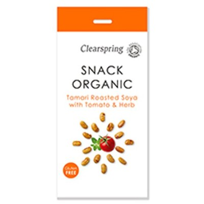 Clearspring - Organic Snack - Tamari Roasted Soya with Tomato & Herb - 30g
