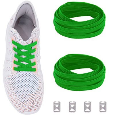 ceratown no tie shoelaces with Elastic Band andステンレススチールタブ、NOノットTielessストレッチ交換Shoelacesすべての子供と大人用靴