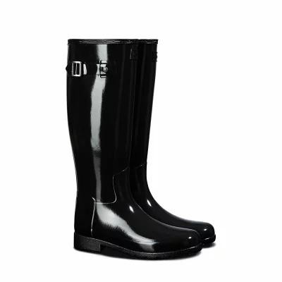 ハンター HUNTER レインシューズ・長靴 Original Refined Knee High Rain Boot Black