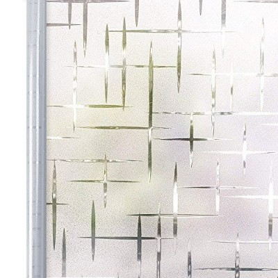 homeinウィンドウフィルムプライバシー用糊Static Cling Film竹Frosted Window映画、35.4in。199.8 in。(90 x 200 cm) 17.7in.By...