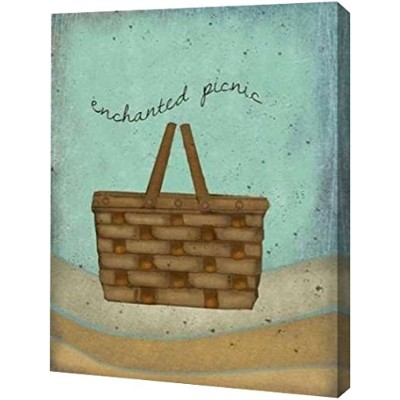 "Enchanted Picnic by Beth Albert – ギャラリーWrapped Gicleeキャンバスアートプリント – Ready To Hang 24"" x 30"" GW-POD..."