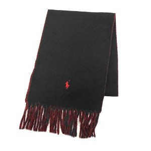 【POLO RALPH LAUREN】[6色展開]CLASSIC REVERSIBLE SCARF メンズ雑貨 その他メンズ雑貨 BLACK/RED au WALLET Market