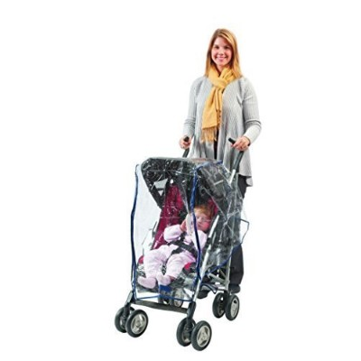 Comfy Baby! Universal Clear Waterproof Rain Cover/Wind Shield for Standard Stroller - with Front...