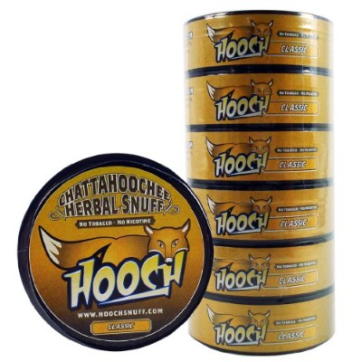 (6)Six Chattahoochee Hooch Herbal Snuff Cans 1.2oz/34g - CLASSIC - No Tobacco, No Nicotine by...