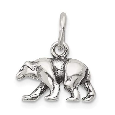 Beautiful Sterling silver 925 sterling Sterling Silver Bear Charm comes with a Free Jewelry Gift