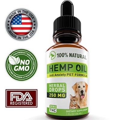 Hemp Oil for Dogs and Cats – フルスペクトルHemp Extract 250 mg – Grown & Made in USA – すべての自然Pain Relief犬...
