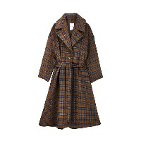 Her lip to  【12月上旬お届け】Two Tone Belted Dress Coat(HER1811074) チェック 【三越・伊勢丹/公式】 レディースウエア~~コート
