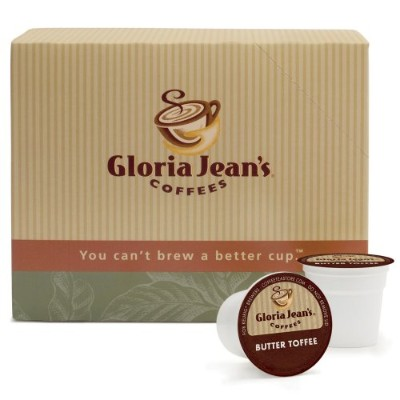 Gloria Jean's Coffees, Butter Toffee, 24-Count K-Cup Portion Pack for Keurig Brewers (Pack of 2) by...