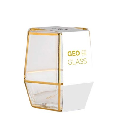 (Gold) - Gold Geo Glass Tumbler. Geometric Terrarium Inspired Drinking Glass in a Single Pack by...